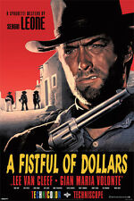 A fist full of dollars poster! Western spaghetti western Clint Eastwood Italy