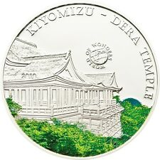 2010 Palau Large  Proof Color Silver $5 Kiomyzu-Dera Temple,Japan