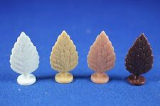 Plasticville - O-O27 - #BS-6 Shrubs - 4 in rare and HTF Colors - Excellent+++++
