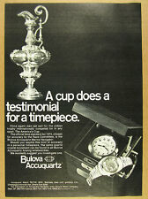 1974 Bulova Accuquartz Marine Navigator watch america's cup photo vintage Ad