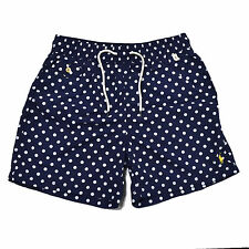 Polo Ralph Lauren Swim Trunks Mens Traveler Dots Shorts Lined Bathing Suit New