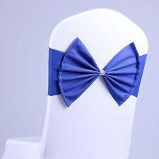 Bow Tie Stretch Spandex Wedding Chair Cover Sashes Band Party Banquet Supplies
