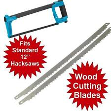 2 x WOOD BOW SAW BLADES TO FIT 2 IN 1 BOWSAW / HACKSAW 300 MM 12""