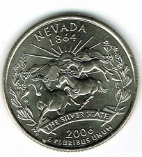 2006-P Brilliant Uncirculated Nevada 36TH State Quarter Coin!
