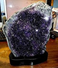 HUGE  AMETHYST CRYSTAL CLUSTER  CATHEDRAL GEODE FROM URUGUAY W/ POLISH