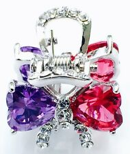 USA QUALITY Hair Claw Clip using Swarovski Crystal Hairpin Wedding Pink Purple 2