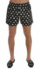 NWT $280 DOLCE & GABBANA Black Polka Dotted SILK Pajama Shorts Sleepwear IT5 / M