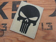 "Patch Velcro "" PUNISHER "" écusson TAN SABLE US airsoft COS félin seal OPEX FS"