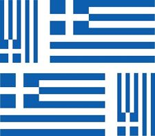 Set of 4x sticker vinyl car bumper decal outdoor moto world flag greece greek