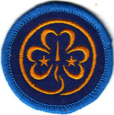 Girl Guide Badge embroidered WORLD membership