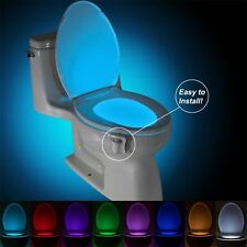 8Color Battery Operated Motion Sensor Automatic Seats LED Light For Toilet Bowl