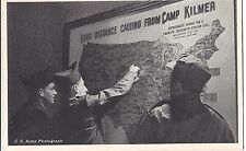 Long Distance Calling from CAMP KILMER New Jersey Postcard US Army Photograph BW