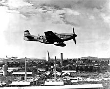 New 8x10 Korean War Photo: P-51 Mustang Releases Napalm Bombs over North Korea