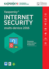 Kaspersky Internet Security 2016 multidispositivo,5 pc/2year, (Android/mac), antivirus