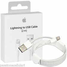 Cavo USB ORIGINALE Apple 2 METRI Lightning Per iPhone 5 5S 5C 6S plus iPad iPod