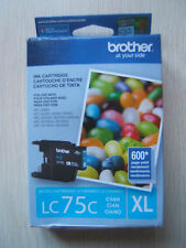 Brother Printer LC75C XL High Yield Cyan Expired Ink Cartridge Genuine Sealed
