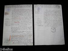 Tourville sur Sienne(50) 2 Actes d'état civil Famille LEFRANÇOIS/FAUVEL/LEBRETON