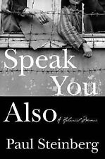 Speak You Also: A Holocaust Memoir-ExLibrary