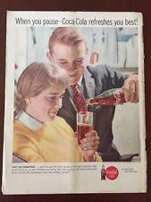 COKE COCA-COLA RETRO Magazine Print AD 1960s original vintage advertising
