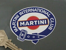 "MARTINI INTERNATIONAL CLUB Con cinturón Logo Adhesivos 2.75"" Par Carreras Coche"