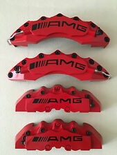 AMG BRAKE CALIPER COVER 4PCS For Mercedes-Benz (RED with Black Screws)