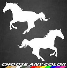 Horse Stickers Running Decal Vinyl Animal Farm Riding Cute Car Window Home