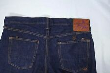 PRPS JAPAN MADE MENS 36 X 29 BARRACUDA STRAIGHT P29 P03AA DARK BLUE JEANS DENIM