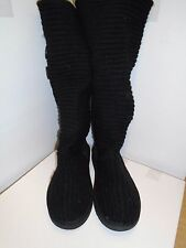 Genuine UGG Australia Classic Tall uncinetto Stivali UK 5.5 Euro 38.5 in Nero