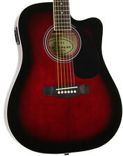 Jameson Used Full Size Thinline Red Acoustic Electric Guitar with Pickup