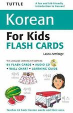 Tuttle Korean for Kids Flash Cards Kit Tuttle Flash Cards