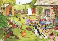 The House Of Puzzles - 500 BIG PIECE JIGSAW PUZZLE - Grandma's Garden Big Pieces