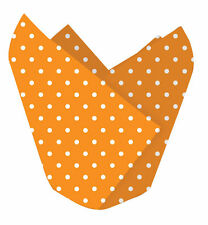 12 x Halloween Cupcake wrappers Cupcake cases Decorative orange dot wrappers