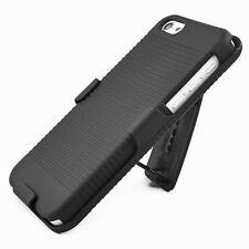 Rugged Hard Case Cover & Belt Clip Holster Stand For Apple iPhone 5C