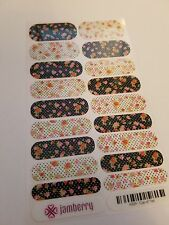 Jamberry -Cup of Tea- Nail Wraps! Full Sheet! New! Gloss Retired