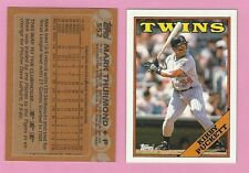 1988 KIRBY PUCKETT  WRONG BACK TWINS ERROR CARD