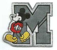 Mickey Mouse in letter M Small Character Patch - Sew-on / Iron-on Cloth Patch