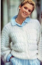 ~ Knitting Pattern For Lady's Zig-Zag Lacy Mohair Cardigan ~