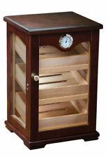 NEW THE MILANO 125 CIGAR COUNT DARK MAHOGANY COUNTER-TOP DISPLAY HUMIDOR