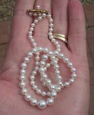 Mikimoto Japanese Akoya Saltwater Pearl Strand or Necklace - 18K YG - Box