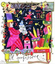FRANCESCO MUSANTE - IL PROFESSORE -  NUOVA 2014 serigrafia CONF REGALO
