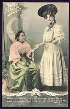 """a802    Vintage Postcard    """" YOUR FORTUNE """"    J. Welch & Son No.4   Dated 1906"""