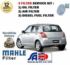 FOR SUZUKI SWIFT 1.3DT DDiS 07/2008-  SERVICE SET OIL AIR FUEL FILTER KIT
