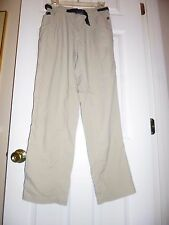 Columbia GRT Women's Trail Hiking Khaki Pants Active Adjustable Waist, Sz Medium