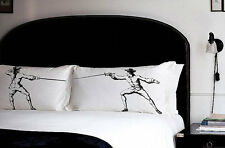 PILLOW FIGHTING fencing pillowcases swords fight Antique vintage sport retro set