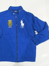 New with tag NWT Ralph Lauren Boys Blue Polo Stuttgart Hooded Jacket L Big Pony