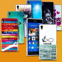 Handy Hülle für Sony Xperia Cover Case Schutz Tasche Motiv Slim Silikon TPU