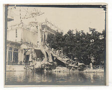 PHOTO Vintage FRANCE - Structure Escalier béton éphémère Vers 1900 Exposition ?