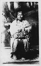 VERY RARE 1921 Photograph Card of Wealthy Osage Indian Squaw