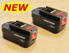 NEW 2-Pack Genuine Black & Decker 18V 18 Volt Slide-Style BATTERY HPB18