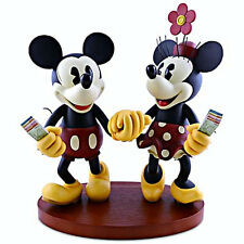 Disney Parks Medium Big Fig Figurine Pie-Eyed Minnie and Mickey Mouse NEW